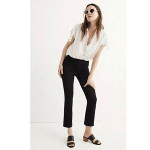 NWT Madewell Black Cali Boot Jeans J1369 - 26T